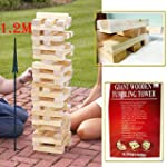 ZANBEEL NEW 1.2M GIANT JENGA WOODEN T...