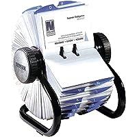 Eldon/Mca S0793780 Rolodex Fichier rotatif en polystyrène pour cartes de visite Noir