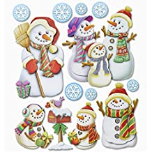 Weihnachtsmann Winter Weihnachten Artoz Artwork 3D-Sticker