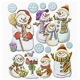 Stickerkoenig Wandtattoo 3D Sticker für Kinderzimmer XXL Set - Schneemann Schnee Männer, Weihnachten, Weihnachtsmann, Nikolaus Weihnachtsdeko tolle Winter Dekoration Deko Aufkleber im 3D Look