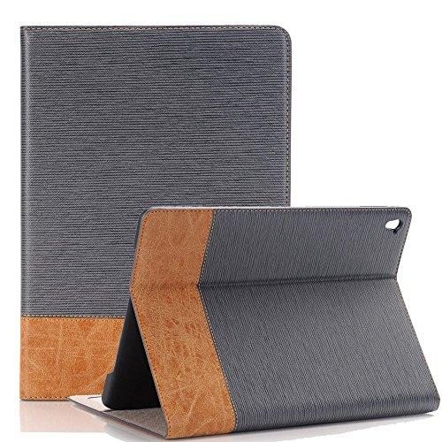 iPad Pro 9,7'' Hülle, Miya® Personifizierte Weinlese PU Lederne Dünne Standplatz Fall Abdeckung Hülle Case Schutzhülle Tasche für Apple iPad Pro 9,7 Zoll(Hellblau)