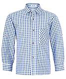 Kinder Trachtenhemd Blau Weiß kariert Gr. 104 - Schönes Trachten Hemd für Kinder in verschiedenen Farben verfügbar - Perfekt zur Lederhose für Buben