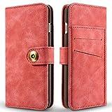 SITCO iPhone 6SPLUS Tasche Vintage Wallet Ledertasche Abnehmbare Rückseitige Abdeckung Flip Wallet & Zurück Fall Abnehmbare Retro Phone Case Kreditkartensteckplätze für Apple iPhone 6 Plus