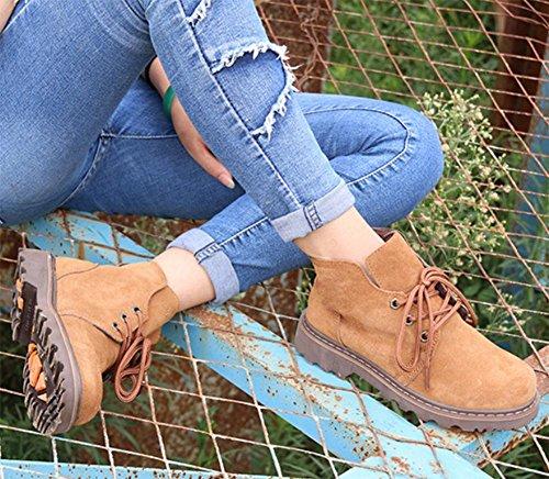 Frühling Paar Martin Stiefel Casual Stiefel erhöht Stiefel Frau camel brown