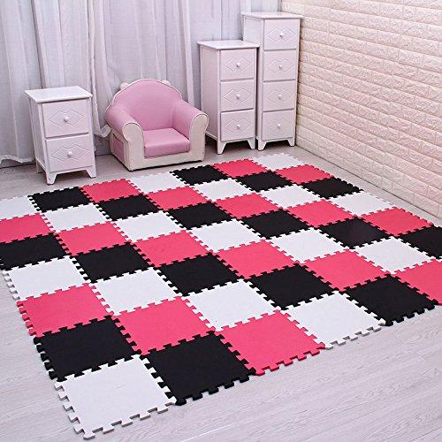 MEI QI COOL meiqicool EVA-Schaum mit Puzzle-Matte/18–24mit großer, Fliesen, Teppich, Teppich für Kinder, 30cmx30cm, 1cm