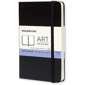 Moleskine Carnet de croquis Format de poche Couverture rigide noire 9 x 14 cm