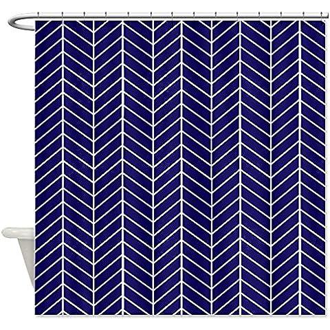 CafePress blu navy Pesce tenda da doccia, White, Standard - Pesci Asciutti