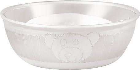 Osasbazaar Sterling Silver Baby Bowl - Teddy Bear Design - 90%-92.5% Pure BIS Hallmarked