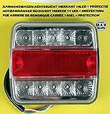 Rücklicht LED 12V Anhängerrücklicht 4Funktionen Heckleuchte Schlusslicht