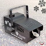 Schneemaschine 600W, Partyeffekt, Bühneneffekt, mit Fernbedienung, sofort einsatzbereit keine Aufwärmzeit, 1 Liter Tankvolumen. Snow machine auf Schaumbasis
