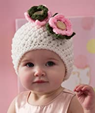 LOVE CROCHET ART Kids Winter Crochet Cap(White,6 to 12 Months)