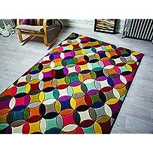 Spectrum - Alfombra / Tapete con diseño moderno y abstracto - Multicolor Mambo 160 x 230cm