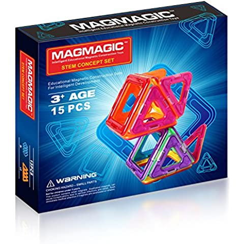 Magmagic Building Block giocattoli magnetici,15 pcs Stacking Set Designer Kit