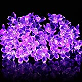 Fairy String Lights Christmas Decorative Lights 33 Feet 100 LEDs 8 Flash Modes Tail Plug Connectable Cherry Flower Decoration Novelty Light For Party, Patio, Chirstmas, Garden, Home And Garden
