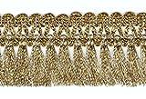 16,40m Fransen-Borte 4,5cm breit Farbe: helles Lurex-Gold TSL-AA360-1-Lt.Gold