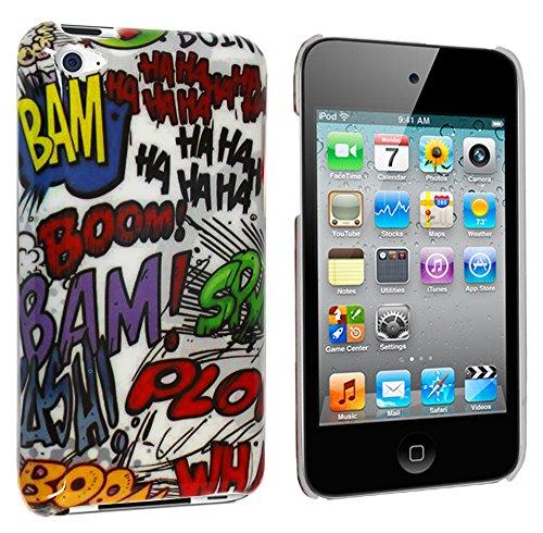 Apple Itouch Design Snap (Graffiti Design Kunststoff Hardcase für Apple iPod Touch 4G 4. Gen Generation + Display-Schutz)