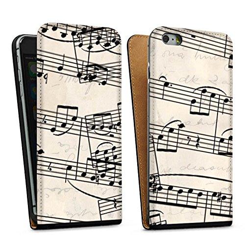 Apple iPhone 5s Housse étui coque protection Partitions de piano Motif Motif Sac Downflip noir