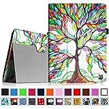 Coque iPad 4 / 3 / 2, Fintie Folio PU Similicuir Végétale étui Housse Fin De Haute Qualité stand Smart Case Cover avec le sommeil / réveil fonction pour iPad 2 / 3 / 4 Retina, Love Tree