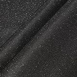Stoff PVC Kunstleder Glitter schwarz Glitzer silbrig glitzernd