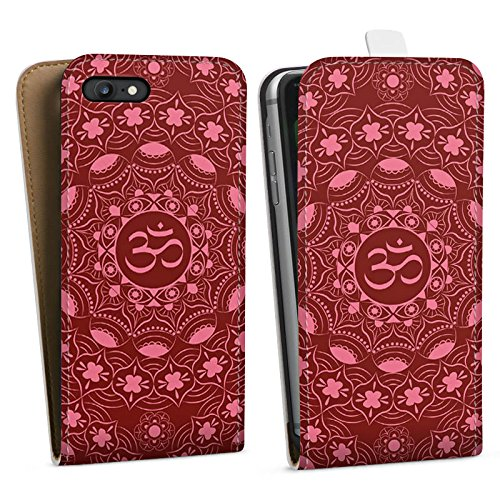 Apple iPhone X Silikon Hülle Case Schutzhülle Mandala Sommer Rot Downflip Tasche weiß