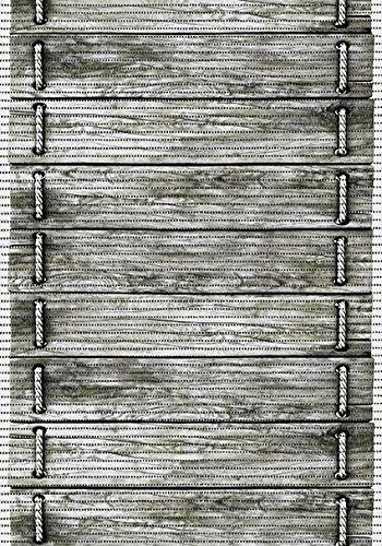 Bodenbelag comfort Weichschaum Badematte Matte Holz Brücke 65x200cm