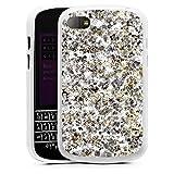 Blackberry Q10 Hülle Silikon Case Schutz Cover Muster