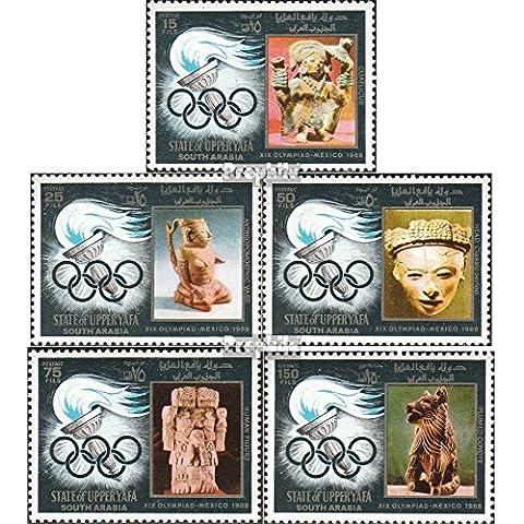 sellos para coleccionistas: Adén-Alto Yafa 11A-15A (completa.edición.) matasellado 1967 olímpicos Antorcha + esculturas