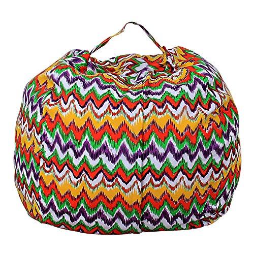 (Sulifor Hause Spielzeug Aufbewahrungstasche Kinder plüsch Tier plüsch Spielzeug lagerung Bean Bag weiche Tasche Streifen Stuhl)