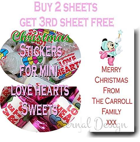 Eternal Design Autocollants de Noël Brillant pour Mini bonbons Love Heart xdlvhs 50 #NAME?