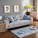 Sofa cushions,anti-slip pure cotton european combination full package sofa cover towel-D 70x150cm(28x59inch)