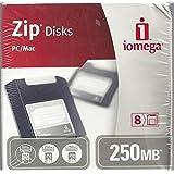 iomega IBM Mac Compatible Zip Disk DISK ZIP 250MB 8 PK DISCONTINUED BY MANUFACTURER