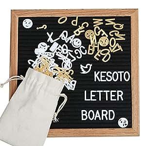 kesoto lettre tableau en feutre avec cadre cadre en ch ne massif et noir avec 380 lettres. Black Bedroom Furniture Sets. Home Design Ideas