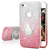 Coque iPhone SE, Coque iPhone 5S / 5, Miss Arts Coque Silicone Paillette Strass...