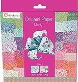 Avenue Mandarine 52509O - Origami Papier Liberty, 20 x 20 cm, 60 Bl, 70 g