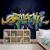Papier Peint Photo Mural 1509P8 - Collection Graffiti - XXL - 368cm x 254cm - 4 Part(s) - Imprimé sur 115g/m2 papier mural