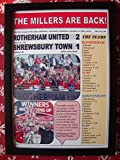 Sports Prints UK Rotherham United 2 Shrewsbury Town 1-2018 League One play-off final - framed print