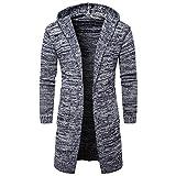 Strickcardigan Herren Cabanjacke Männer Strickpullover Strickjacke Mit Kapuze Pullover Mantel Sweater Kapuzensweater Freizeitjacke Streetwear