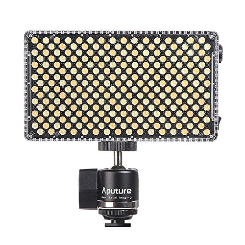 Aputure Amaran AL-F7 LED Kamera Licht Bi-Color 3200K-9500K Adjustable Brightness LED Photo On Camera Light