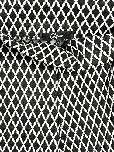 CASPAR HLE019 Leggings opaque super stretch avec motif stylé géométrique pour femme - taille S à XXL Motif B