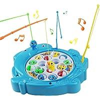 Jeu Peche à la Ligne Jeux de Société Musical Enfant avec 15 Poisson 4 Canne a Pêche Cadeau Anniversaire Enfants Garcons…
