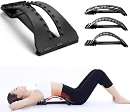 Kriva Back Massage Magic Stretcher Lumbar Support Device Relax Mate Spine Pain Relief Chiropractic - Black Color - 1pc