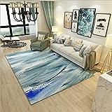 GRENSS Neue Mode abstrakten Drucken großer amerikanischer Stil moderne weichen Teppich für Wohnzimmer Schlafzimmer Kid spielen Zarte Wolldecke Home Fußmatte, Hellgrau, 160 X 230 cm