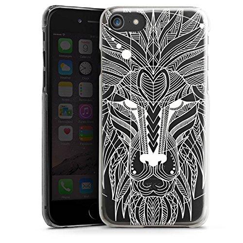 Apple iPhone X Silikon Hülle Case Schutzhülle Muster ohne Hintergrund Löwe loewe Hard Case transparent