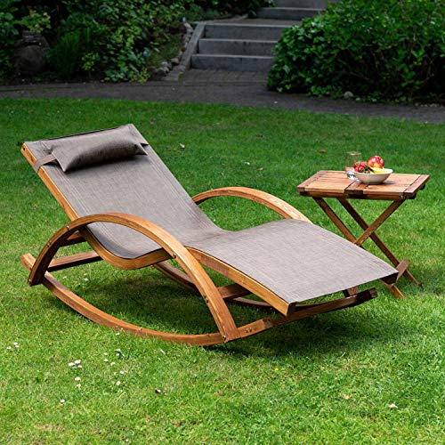 Relax Schaukelstuhl Rio | 100% wetterfeste Gartenliege - 6