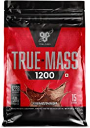 BSN TRUE-MASS 1200 Weight Gainer, Muscle Mass Gainer Protein Powder, Chocolate Milkshake, 10.38 Pound