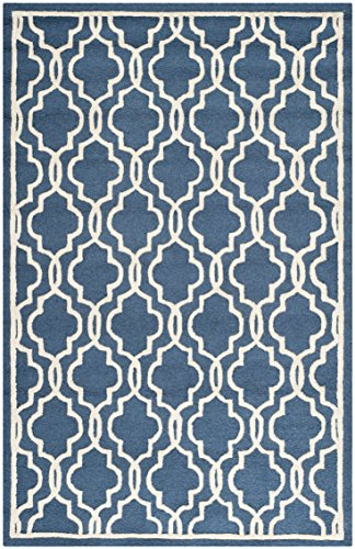Safavieh Alfombra de área de textura de Elle, color azul marino/marfil, 152x 243cm