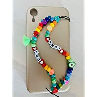 Phone strap perline charm Leo personalizzato con lettere e nome. Porta cellulare da polso e gioiello per il tuo telefono…