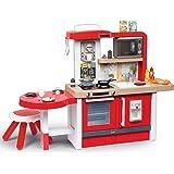 Smoby - Tefal Evo Gourmet kök - XXL lekkök för barn med många funktioner, stor sittplats med pall, 43 delar. Tillbehör: för b