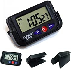 Cartshopper Digital Lcd Alarm Table Desk Car Calendar Clock Timer Stopwatch Dashboard / Office Desk Alarm Clock And Stopwatch - Black