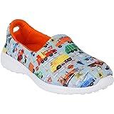 KazarMax Boys & Girls Light Blue & Orange Sneaker Shoes